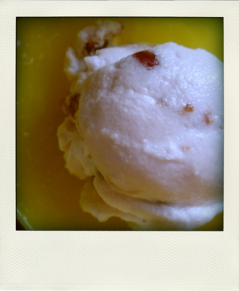 Rose Water and Sour Cherry Ice Cream - autumn makes and does