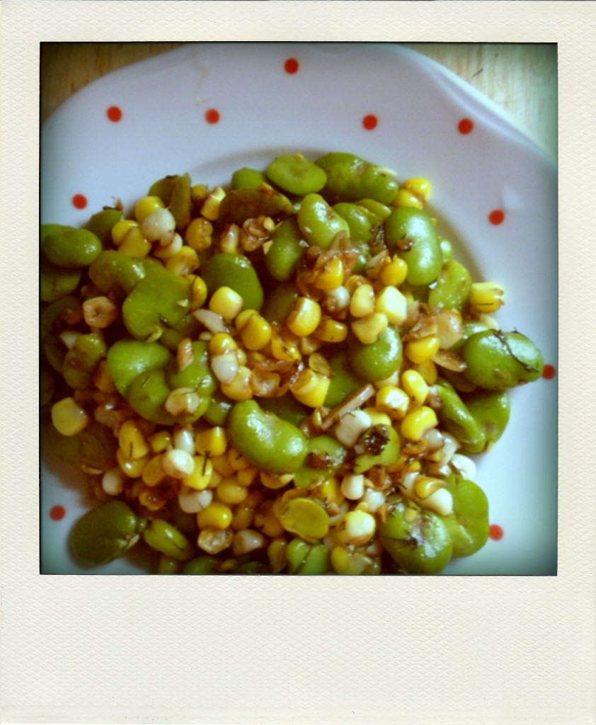 Fava, Corn, and Dill Summer Succotash - autumn makes and does