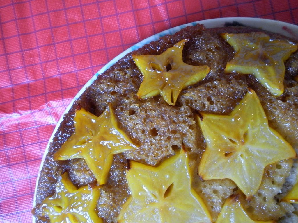 Star fruit Upside Down Cake - autumn makes and does