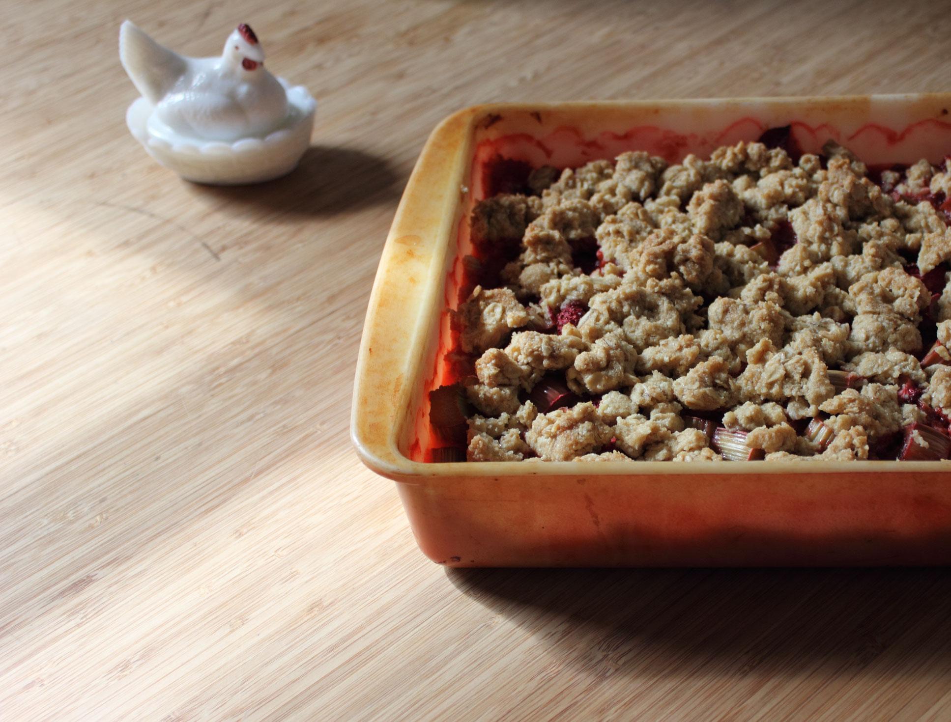 Gluten-free Strawberry Rhubarb Crisp