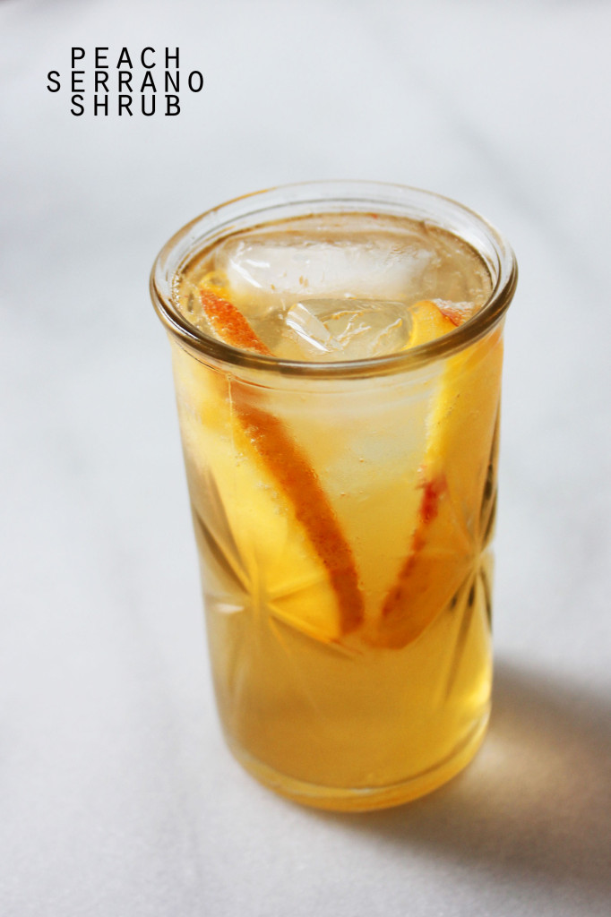 Peach Serrano Shrub || Autumn Makes & Does
