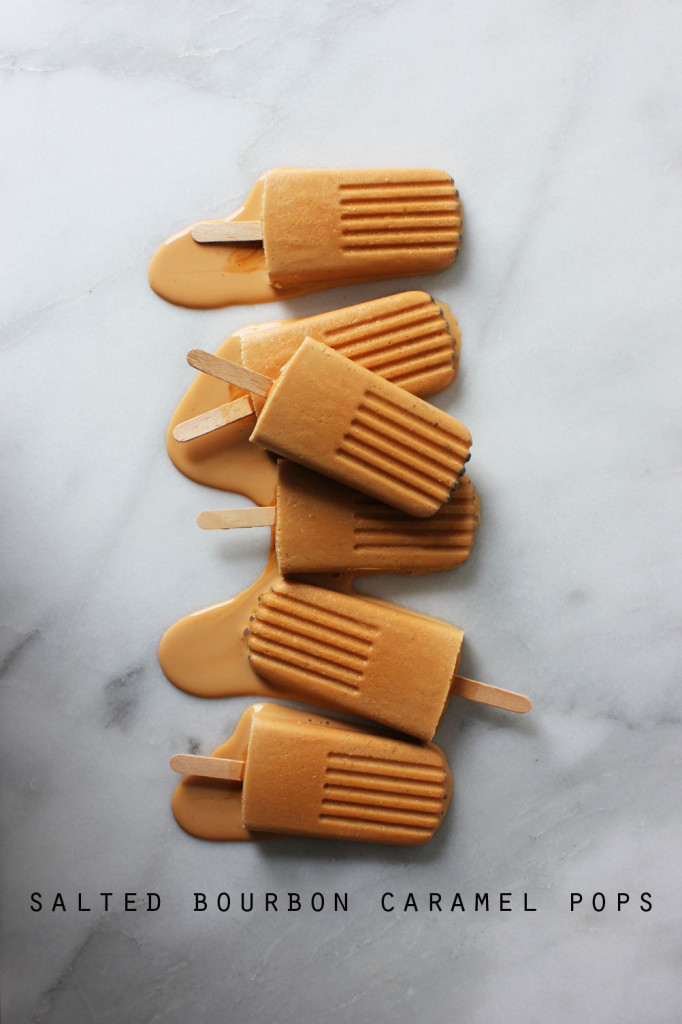 Salted Bourbon Caramel Pops
