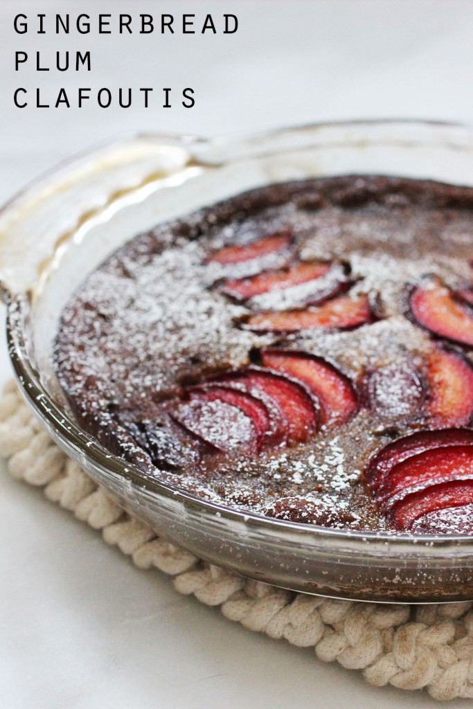 Gingerbread Plum Clafoutis || Autumn Makes & Does