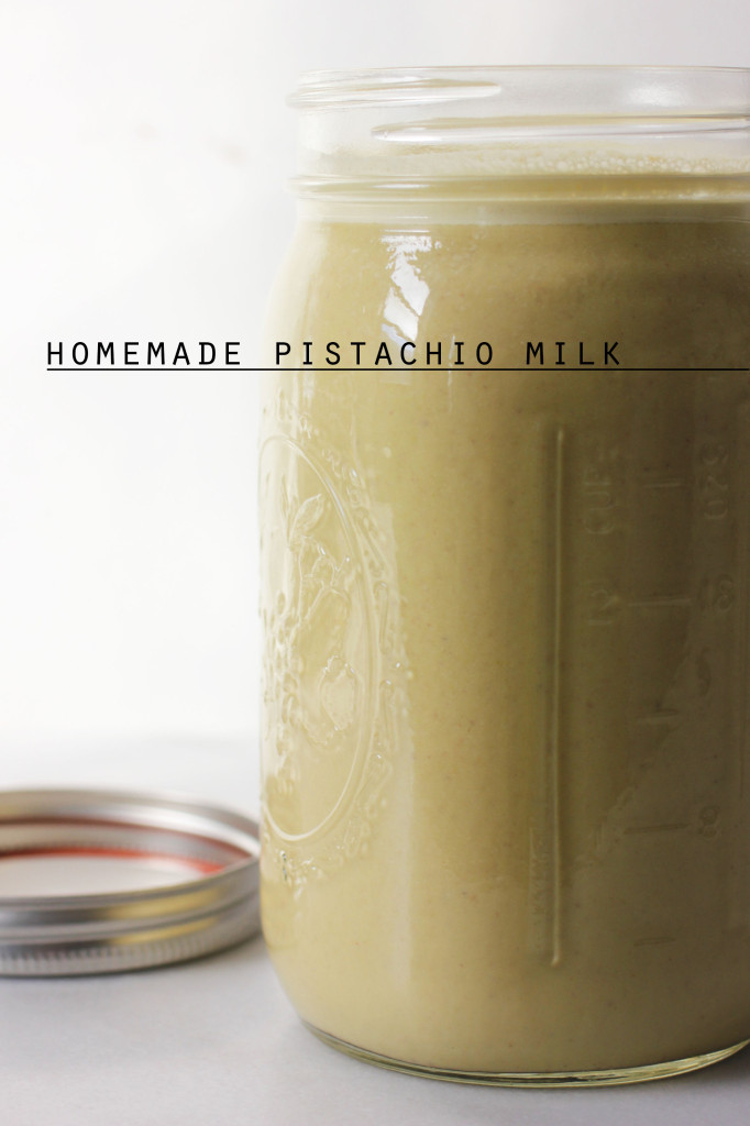 Homemade Pistachio Milk || Autumn Makes & Does