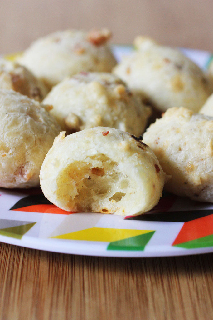 pão de queijo are a traditional brazilian cheese bread made with ...