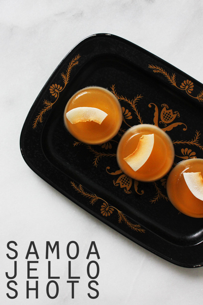 Samoa Jello Shots // Autumn Makes & Does