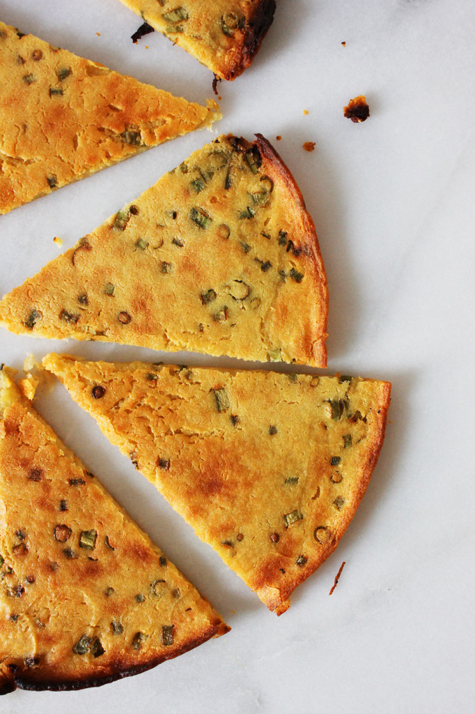Socca Scallion Pancake // Autumn Makes & Does