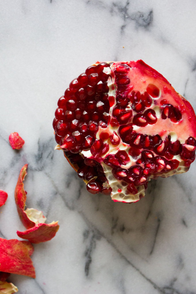 Roasted Kabocha Squash with Pomegranate and Tahini // Autumn Makes & Does
