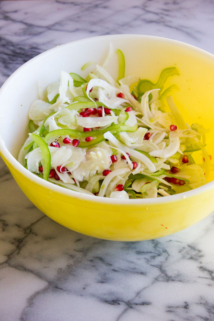 Shaved Fennel Salad with Pomegranate & Lime // Autumn Makes & Does